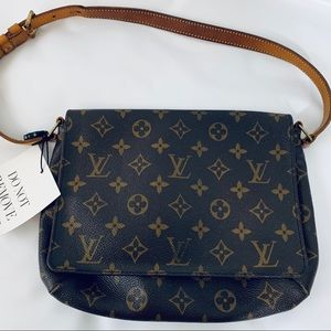 Louis Vuitton Musette Tango Brown Canvas leather